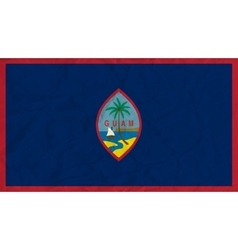 Guam paper flag vector image vector image
