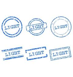 Light stamp vector image