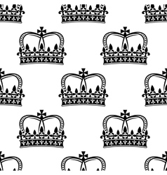 Seamless pattern of royal crowns vector image vector image