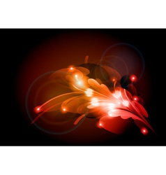 abstract flower red vector image vector image