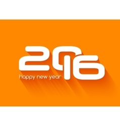Beautiful typography design of happy new year 2016 vector image