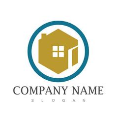 circle house logo vector image