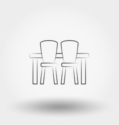 dining table with chairs vector image vector image