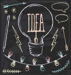Hand Drawn Chalk Idea Set vector image vector image