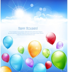holiday background with multi-colored balloons vector image vector image