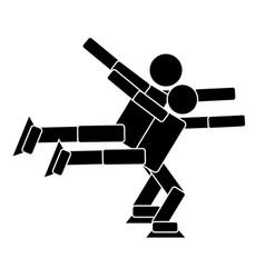 pair figure skating flat icon vector image vector image