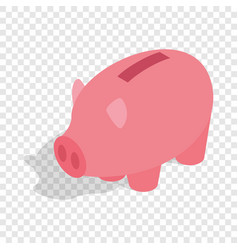 piggy bank isometric icon vector image vector image