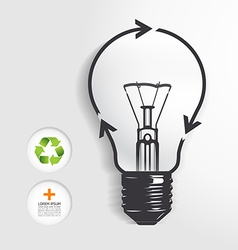 recycle light bulb concept vector image