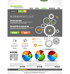 Website template for corporate business and cloud vector image