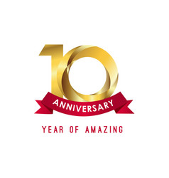 10 year anniversary year amazing template vector