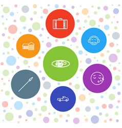 7 clipart icons vector image