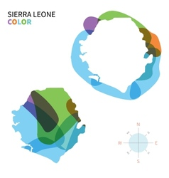 Abstract color map of Sierra Leone vector image