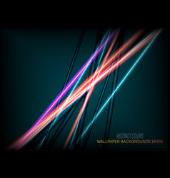 Abstract colors lines vector