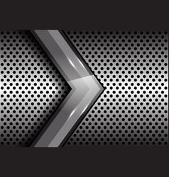 Abstract gray arrow on metal circle mesh vector