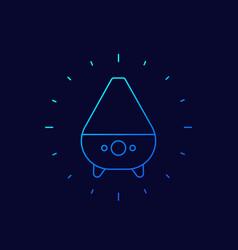 Air humidifier icon linear design vector