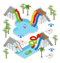 Aqua park concept isometric view vector