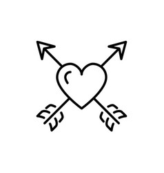 arrow heart icon valentines symbol love sign vector image