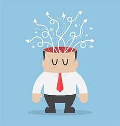 Arrows are coming out of businessman head vector