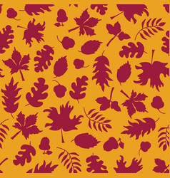 autumn background fall leaves seamless vector image