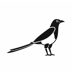Bird magpie icon simple style vector