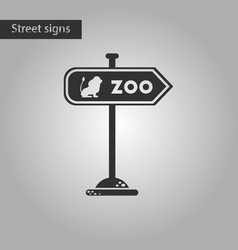 Black and white style icon zoo sign vector