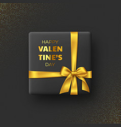 black gift box for valentines day vector image