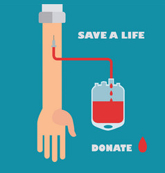 blood donation save a life concept vector image