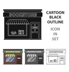 bookstore icon in cartoon style isolated on white vector image