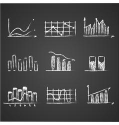 Business sketches finance statistics infographics vector