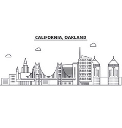 California oakland architecture line skyline vector