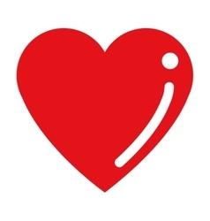 cartoon heart icon vector image