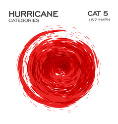 category 5 hurricane infographic element for vector image
