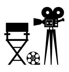 cinema director camera vector image vector image