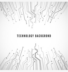 circuit board technology background science and vector image