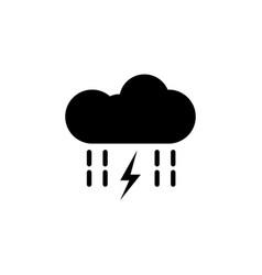 cloud rain lightning energy icon on white vector image