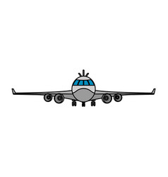 color front airplane vehicle fashion transport vector image