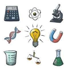 Color Science Icons Sketch vector