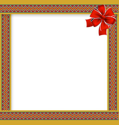 cute christmas or new year frame withzig zag vector image