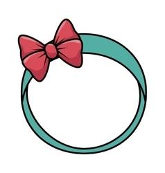 Cute female headband icon vector