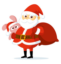 cute funny cartoon santa claus vector image