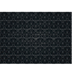 dark background white stylized floral ornament vector image