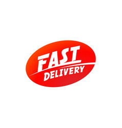 delivery and shipping logo fast delivery vector image