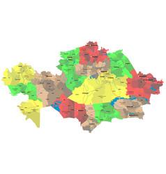 Detailed map kazakhstan vector