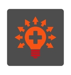 Disinfection Lamp Flat Button vector