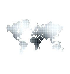 Dot map vector