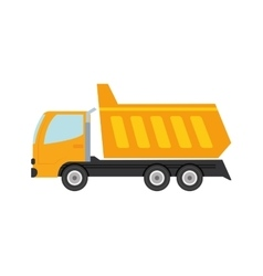 Dump truck transportation delivery icon vector
