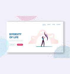 Ecological biodiversity landing page template vector