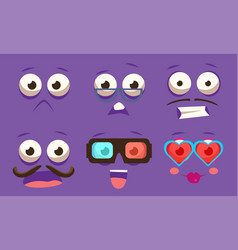 emojis with different emotive feelings set vector image