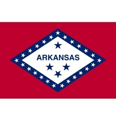 Flag of Arkansas in correct size and color vector image