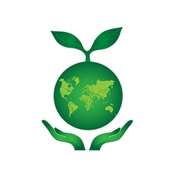 Green Earth Globe vector image